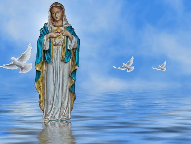 En cette semaine de l'Assomption , prions la Vierge Marie