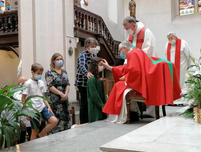 La confirmation dans la paroisse