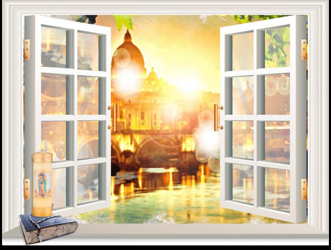 Un lumignon à sa fenêtre pour la fête de l'Immaculée Conception